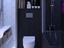 Квартира «Однокомнатная квартира», ванная . Фото № 30468, автор Сапрыкина Светлана