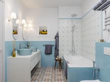 Квартира «ЛЕГКОЕ ВООБРАЖЕНИЕ», ванная . Фото № 30500, автор Алёны Чекалиной Дизайн студия