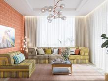 Квартира «ЛЕГКОЕ ВООБРАЖЕНИЕ», гостиная . Фото № 30494, автор Алёны Чекалиной Дизайн студия
