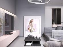Квартира «Мужской розовый», гостиная . Фото № 30515, автор Барискина Юлия
