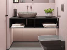 Квартира «Мужской розовый», ванная . Фото № 30518, автор Барискина Юлия