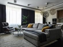 Квартира «RUSFLAT», гостиная . Фото № 30543, автор ART-UGOL Design, Котельников Илья