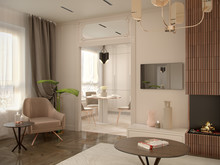 Квартира «Неокапучино », гостиная . Фото № 30555, автор Барискина Юлия