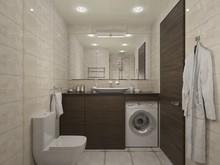 Квартира «Квартира в мкр. Ольгино, Московская область», ванная . Фото № 30583, автор Олейникова Екатерина