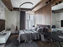 Квартира «Квартира с видом на Хамовники», спальня . Фото № 30606, автор Стащук Татьяна