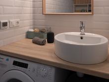 Квартира «Арт сити», ванная . Фото № 30628, автор Черных Елена