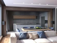 Квартира «Квартира нестандартной планировки в современном стиле », гостиная . Фото № 30644, автор Сапрыкина Светлана
