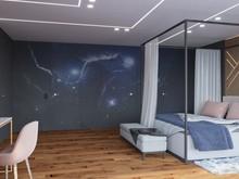 Квартира «Квартира нестандартной планировки в современном стиле », спальня . Фото № 30647, автор Сапрыкина Светлана