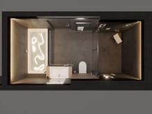 Квартира «Квартира нестандартной планировки в современном стиле », ванная . Фото № 30649, автор Сапрыкина Светлана