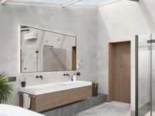 Квартира «Квартира нестандартной планировки в современном стиле », ванная . Фото № 30650, автор Сапрыкина Светлана