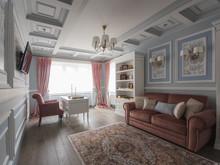 Квартира «Классика в голубых тонах», кабинет . Фото № 30681, автор Кострюкова Ирина