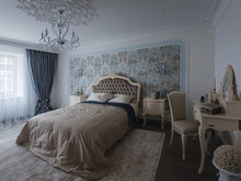 Квартира «Классика в голубых тонах», спальня . Фото № 30682, автор Кострюкова Ирина