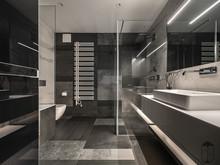 Квартира «UI043», ванная . Фото № 30699, автор U-Style
