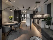 Квартира «UI043», кухня . Фото № 30695, автор U-Style