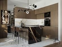 Квартира «ЖК Сити Парк», кухня . Фото № 30734, автор Лях Анна