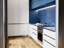 Квартира «Сочный лофт», кухня . Фото № 30754, автор Коломенцева Анастасия