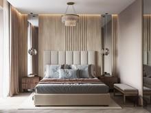 Квартира «ЖК Лайнер», спальня . Фото № 30758, автор Лях Анна