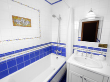Квартира «Викторианский сад», ванная . Фото № 30764, автор Волкова Надежда