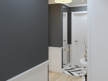 Квартира «50 оттенков серого», прихожая . Фото № 30773, автор Юрийчук Оксана