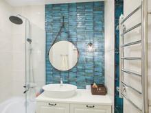 Квартира «Квартира в синих тонах», ванная . Фото № 30845, автор Efimovykh Elena
