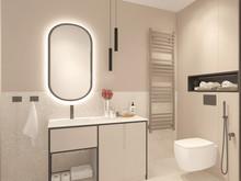 Квартира «Изящная графичность», ванная . Фото № 30850, автор Карпова Ольга