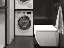 Квартира «Чёрно-белый интерьер», ванная . Фото № 30994, автор GM-Interior GM-interior