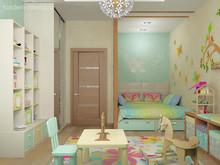 Квартира «Солнечная квартира», детская . Фото № 31025, автор Студия Интерьера ТАНДЕМ+ Студия Интерьера ТАНДЕМ Плюс