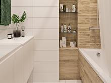 Квартира «Сканди в новой Москве», ванная . Фото № 31050, автор ТАНДЕМ+ Студия Интерьера