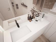 Квартира «MILK», ванная . Фото № 31062, автор Александр и Елизавета А&ES