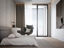 Квартира «MILK», спальня . Фото № 31063, автор Александр и Елизавета А&ES