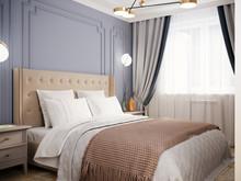 Квартира «Квартира на Юго-Западе Москвы», спальня . Фото № 31086, автор Кисса Тимофей