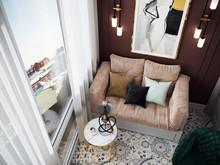 Квартира «Квартира на Юго-Западе Москвы», веранда лоджия . Фото № 31087, автор Кисса Тимофей