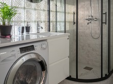 Квартира «ЖК Царская площадь», ванная . Фото № 31120, автор Ляйфер Наталья