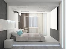 Квартира «20 оттенков серого», спальня . Фото № 31124, автор Студия Интерьера ТАНДЕМ+ Студия Интерьера ТАНДЕМ Плюс