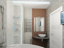 Квартира «20 оттенков серого», ванная . Фото № 31126, автор ТАНДЕМ+ Студия Интерьера