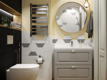 Квартира «Евродвушка в скандинавском стиле.», ванная . Фото № 31130, автор Кисса Тимофей