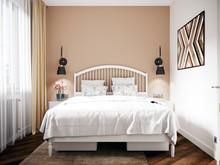 Квартира «Евродвушка в скандинавском стиле.», спальня . Фото № 31131, автор Кисса Тимофей