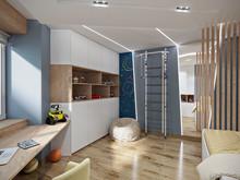 Квартира «Квартира для семьи ученых», детская . Фото № 31195, автор ТАНДЕМ+ Студия Интерьера