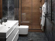 Квартира «Квартира для семьи ученых», ванная . Фото № 31197, автор ТАНДЕМ+ Студия Интерьера