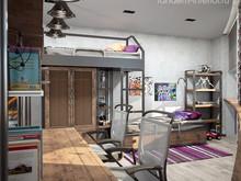 Квартира «160 брутальных метров», детская . Фото № 31235, автор ТАНДЕМ+ Студия Интерьера