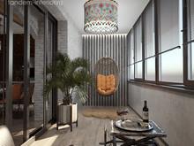 Квартира «160 брутальных метров», веранда лоджия . Фото № 31234, автор ТАНДЕМ+ Студия Интерьера