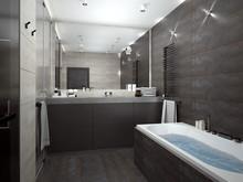 Квартира «160 брутальных метров», ванная . Фото № 31232, автор ТАНДЕМ+ Студия Интерьера