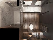 Квартира «Яркие контрасты», ванная . Фото № 31318, автор Савина Лина