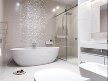 Квартира «Квартира в ЖК Тихвин», ванная . Фото № 31324, автор Безирганов Михаил