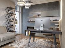 Квартира «Квартира в ЖК Тихвин», кабинет . Фото № 31322, автор Безирганов Михаил