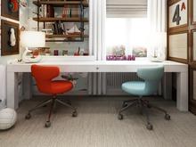 Квартира «Дизайн интерьера трехкомнатной квартиры», кабинет . Фото № 31353, автор Болдырев Артем