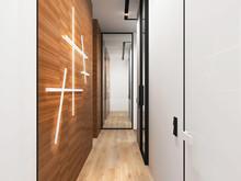 Квартира «Дизайн интерьера трехкомнатной квартиры ЖК Триколор », коридор . Фото № 31358, автор Болдырев Артем