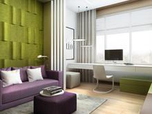 Квартира «Дизайн интерьера трехкомнатной квартиры ЖК Триколор », гостевая . Фото № 31357, автор Болдырев Артем
