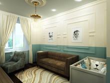 Квартира «Дизайн интерьера трехкомнатной квартиры Сталинки», детская . Фото № 31366, автор Болдырев Артем