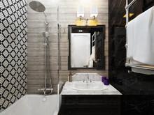Квартира «Дизайн интерьера трехкомнатной квартиры Сталинки», ванная . Фото № 31368, автор Болдырев Артем